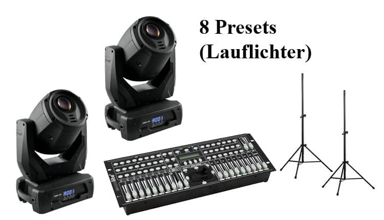 Lichtanlage Moving Head Set